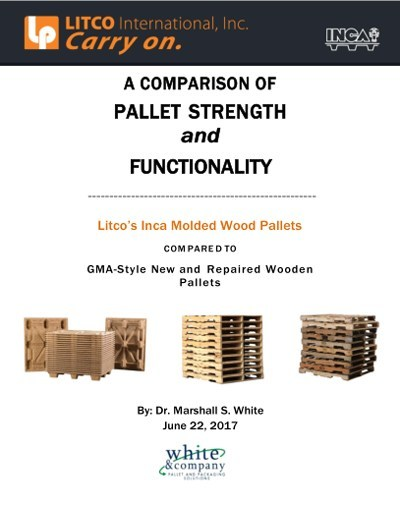 """See how Litco's Inca 48"""" x 40"""" molded wood pallet compares in strength and functionality to traditional, new and rebuilt, GMA-style pallets."""