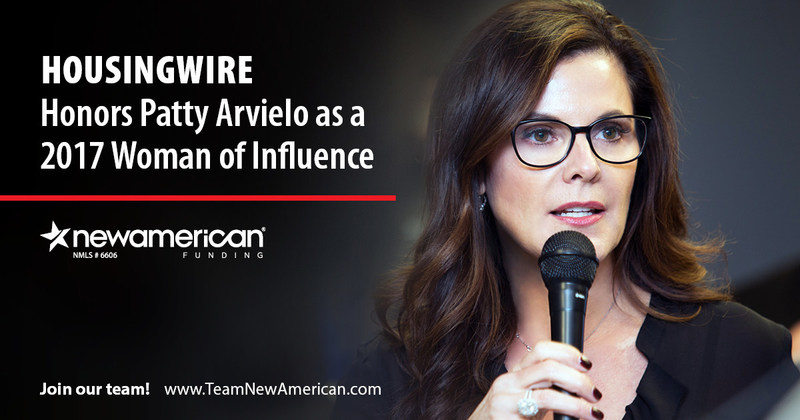 HousingWire Honors Patty Arvielo as a 2017 Woman of Influence