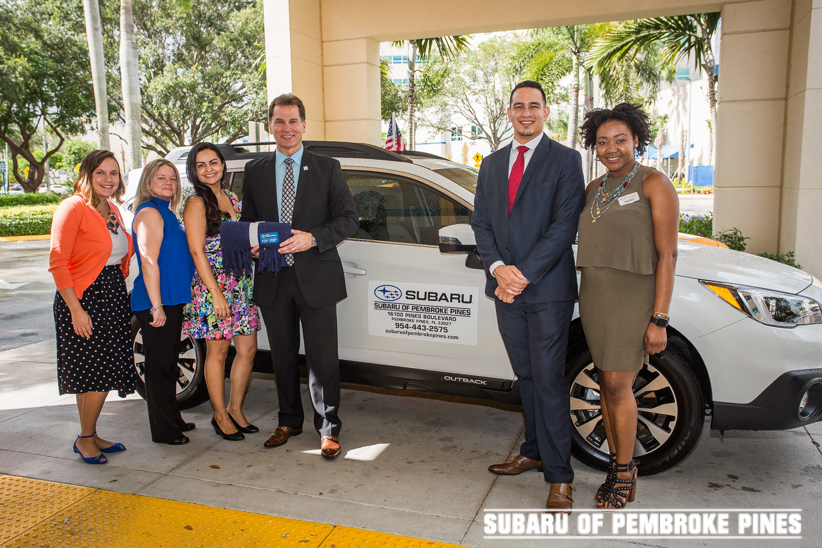 Subaru Of Pembroke Pines >> Subaru Of Pembroke Pines Spreads Warmth To Cancer Patients In Local