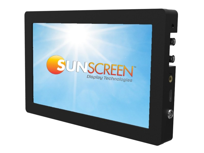 $495 Pro Cinema super-bright direct sunlight viewable display designed for use with virtually any camera from high-end cinema rigs like RED and ARRI to prosumer home users announced by SunScreen Display Technologies. Priced $100's less than nearest competition.