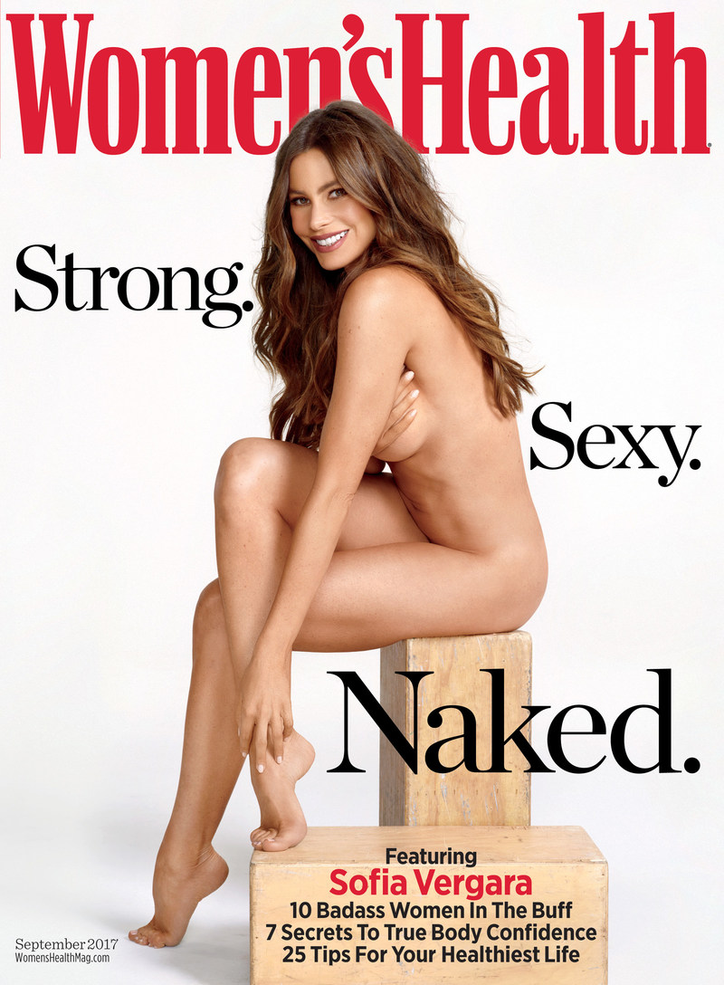Sofia Vergara covers the first-ever global Naked Issue of Women's Health magazine in 15 countries across 5 continents this month. The September issue hits stands in the U.S. on August 8, 2017.