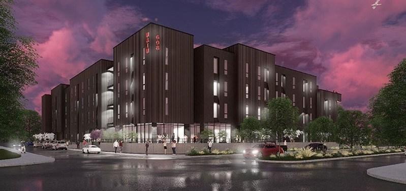 Rendering of the 72 Unit Student Housing Development in Clarksville, TN.