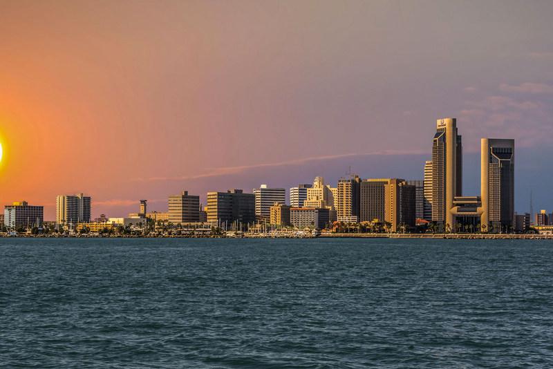 Corpus Christi skyline.