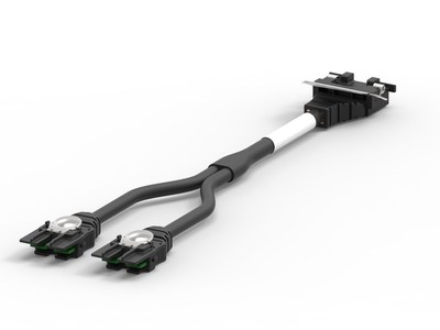 TE Connectivity's new ChipConnect internal faceplate-to-processor (IFP) cable assembly.