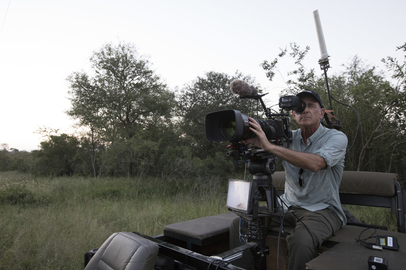 Executive Producer Al Berman shooting through the Canon ME20  on Vehicle Rigging Day 2