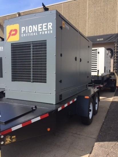 "Pioneer's new line of ""Pioneer Critical Power"" engine generators"