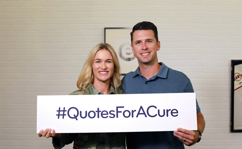 "San Francisco Giants catcher Buster Posey, along with his wife Kristen, announced a joint philanthropic effort with Esurance called ""Quotes for a Cure"" to raise awareness and money for pediatric cancer. Throughout August, each time someone completes an auto insurance quote with Esurance by visiting www.esurance.com/QuotesForACure, the company will donate $10 to the Buster and Kristen Posey Fund with a goal to raise $150,000."