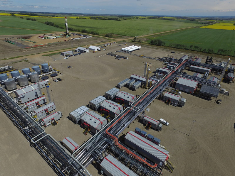 ARC's Dawson Phase III gas processing and liquids-handling facility was started up in mid-June. (CNW Group/ARC Resources Ltd.)