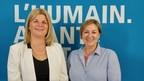 Mme Suzie Prince, nouvelle directrice générale et secrétaire de l'Ordre des travailleurs sociaux et des thérapeutes conjugaux et familiaux du Québec (à gauche) en compagnie de la présidente de l'Ordre, Mme Guylaine Ouimette, T.S. (Groupe CNW/ORDRE DES TRAVAILLEURS SOCIAUX ET DES THERAPEUTES CONJUGAUX ET FAMILIAUX DU QUEBEC)