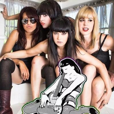 The Darts (US) 1st image: 4 girls in Michelle Balderrama, Christina Nunez, Nicole Laurenne, Rikki Styxx (PRNewsfoto/Dirty Water Records)