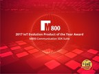 Leading Global CPaaS Company M800 receives 2017 IoT Evolution Product of the Year Award