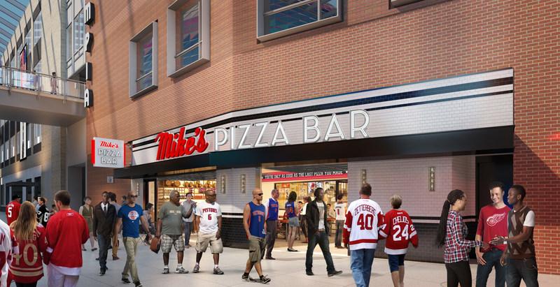 Conceptual Rendering - Mike's Pizza Bar Interior
