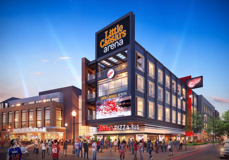 Conceptual Rendering - Exterior of Little Caesars Arena