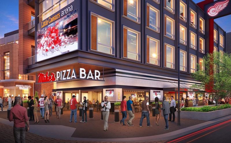 Conceptual Rendering - Mike's Pizza Bar Exterior