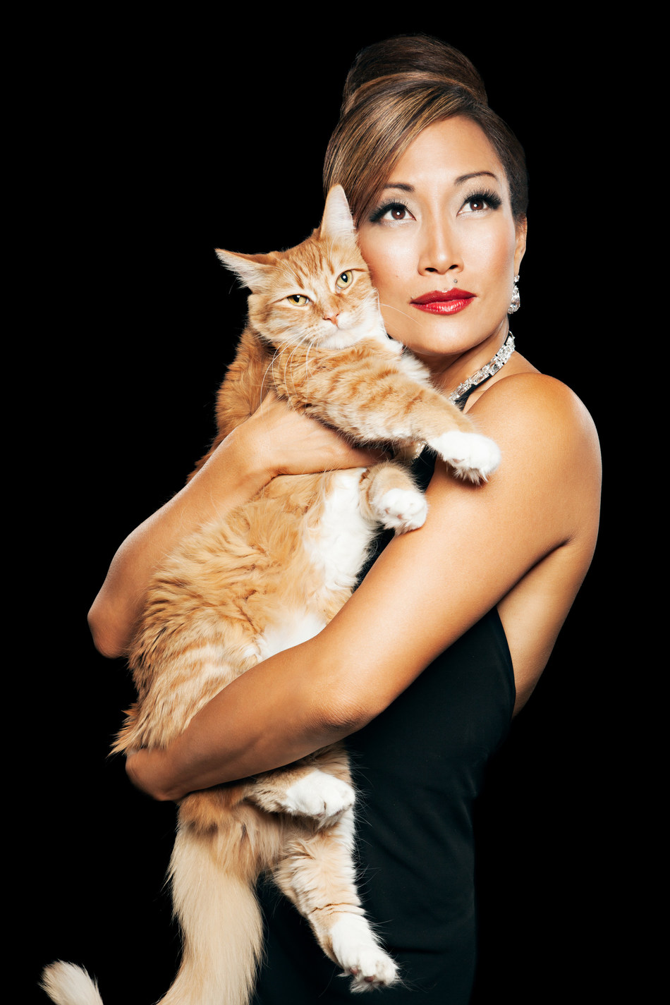 Choreographer and host Carrie Ann Inaba teams up with Royal Canin for its National Take Your Cat To the Vet Day campaign to raise awareness about the importance of preventive veterinary care for cats.  Photo credited to Felix Mack.