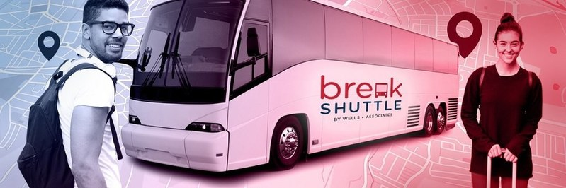 BreakShuttle brings a trusted mobility solution to college campuses. BreakShuttle helps save time and money and avoid the hassle of getting home by providing direct, safe and affordable motor coach trips during academic breaks.