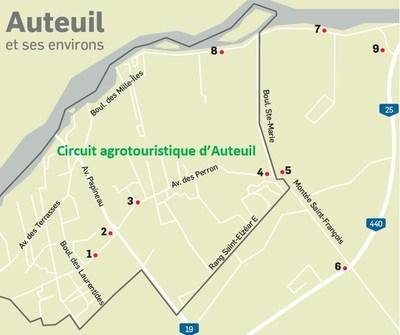 Circuit agrotouristique d'Auteuil à Laval (Groupe CNW/Cabinet du maire et du comité exécutif de la Ville de Laval)
