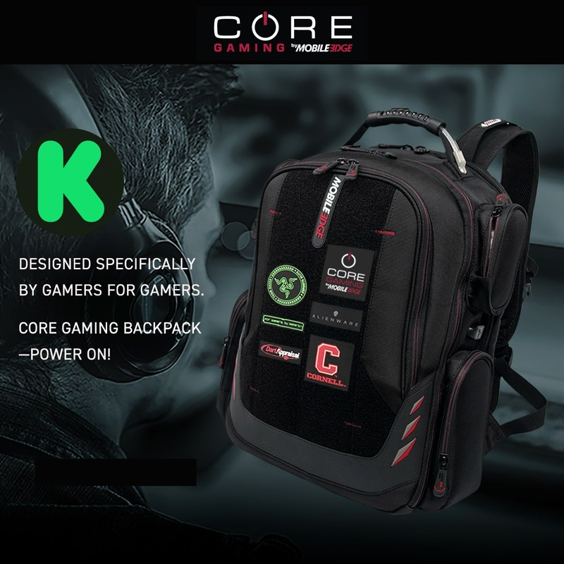 Mobile Edge launches esports gaming line on Kickstarter with the introduction of its CORE Gaming Backpack. Power On!