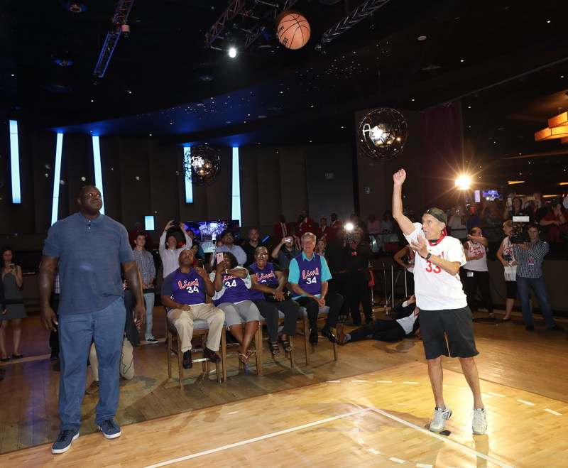 "In a real-life ""David vs Goliath"" battle at Live! Casino & Hotel, NBA Hall of Famer and 4-time NBA Champion Shaquille O'Neal took on David Cordish, Chairman of The Cordish Companies, in a head to head free-throw competition. The Megastar vs Mogul fight ended in a tie, when both made their sudden death shots after draining three of six throws."