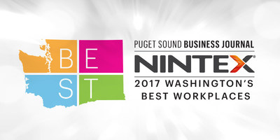 Nintex ranked as one of Washington's Best Workplaces by the Puget Sound Business Journal.
