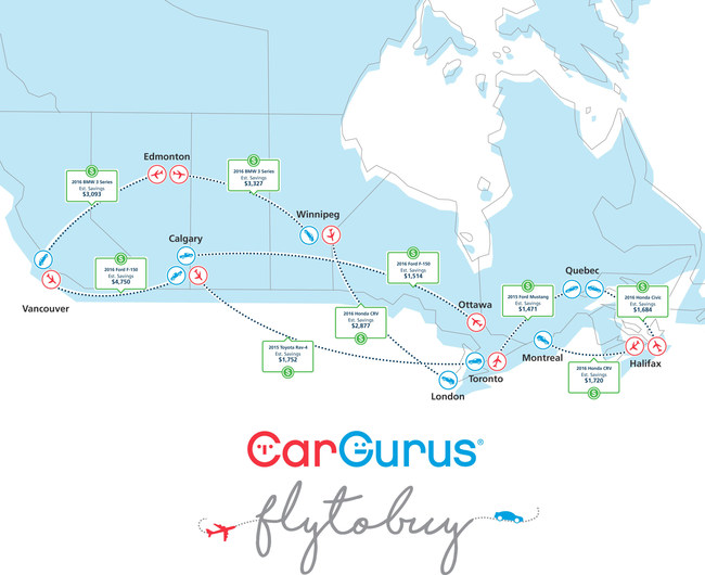 """Canadians Can """"Fly to Buy"""" for Their Next Used Car"""