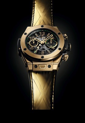Hublot Big Bang Unico Usain Bolt in Yellow Gold (PRNewsfoto/Hublot)