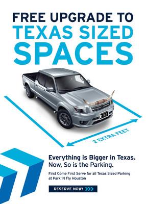 Espacios de estacionamiento Texas Sized de Park 'N Fly