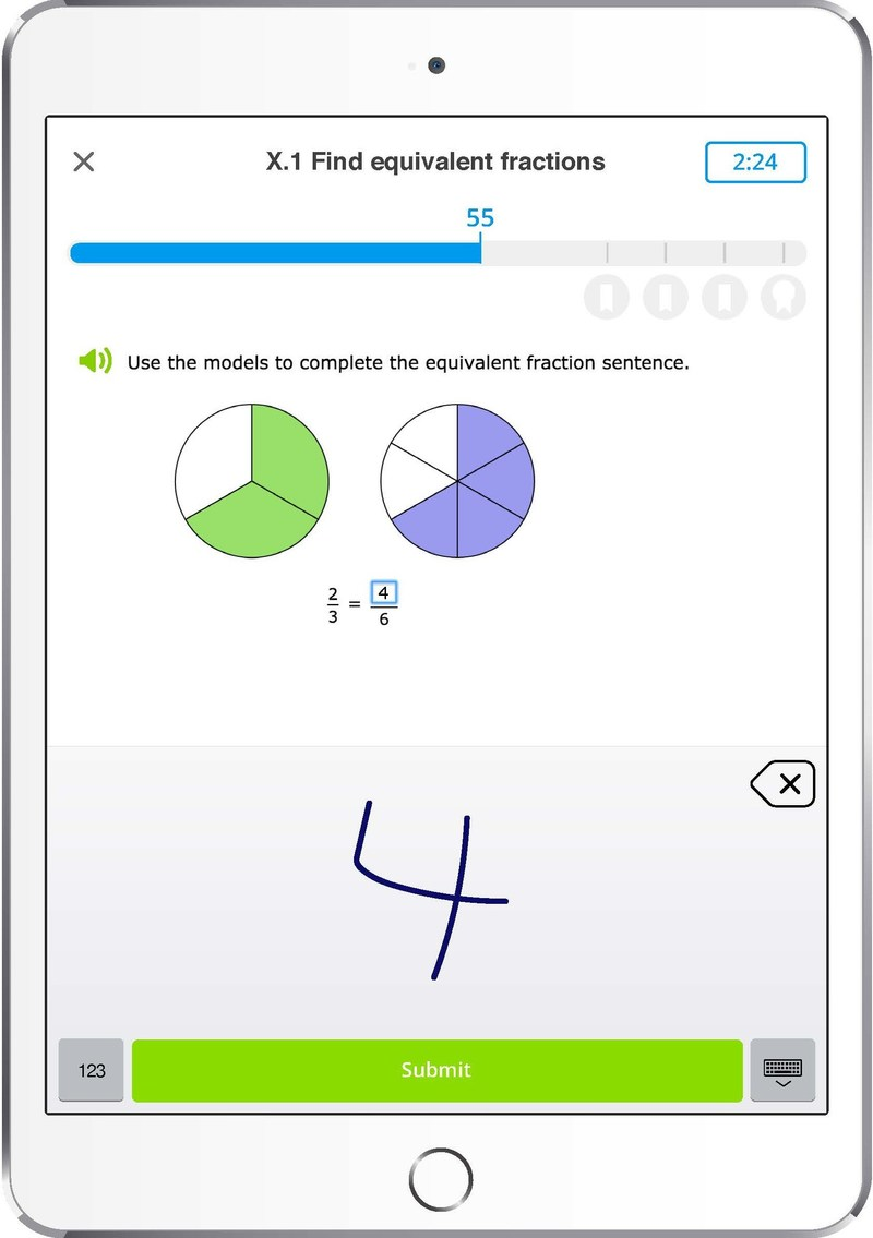 IXL's iPad app features interactive question types that heighten curiosity and put learning at children's fingertips.