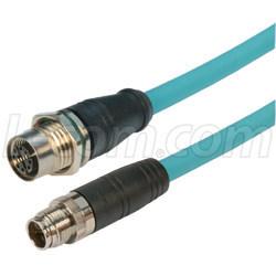 X編碼6a類M12線纜