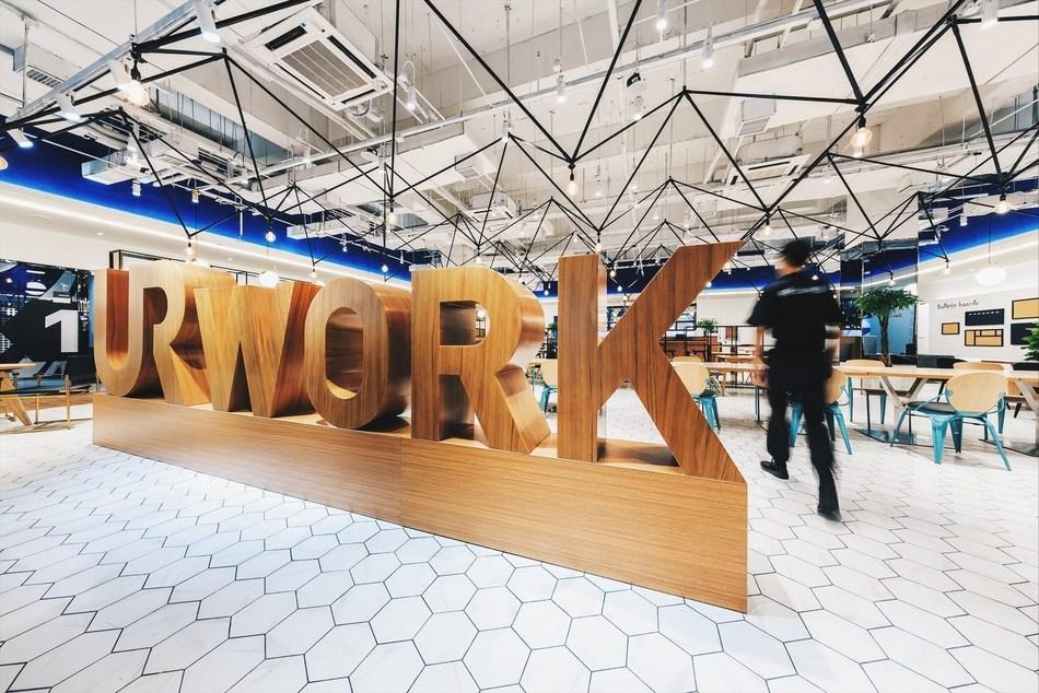 UrWork's newly opened Jiu Xian Qiao co-working space near Beijing 798 art zone.