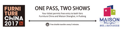 Free visiting the two fairs - Furniture China and Maison Shanghai - with one ticket