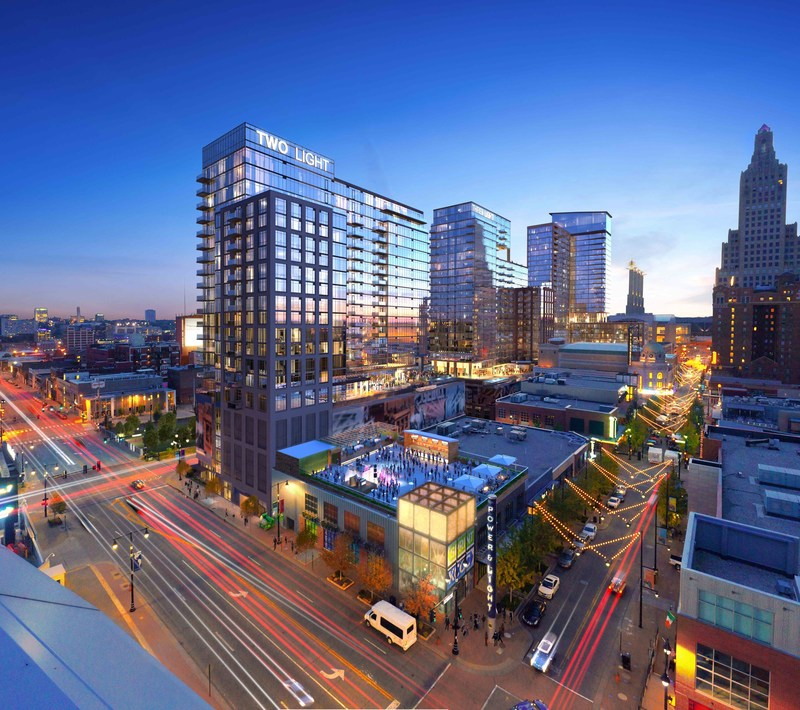 Scheduled to open in 2018, the 296-unit Two Light will join One Light as the second new construction high-rise apartment building in the last 50 years in downtown Kansas City, MO