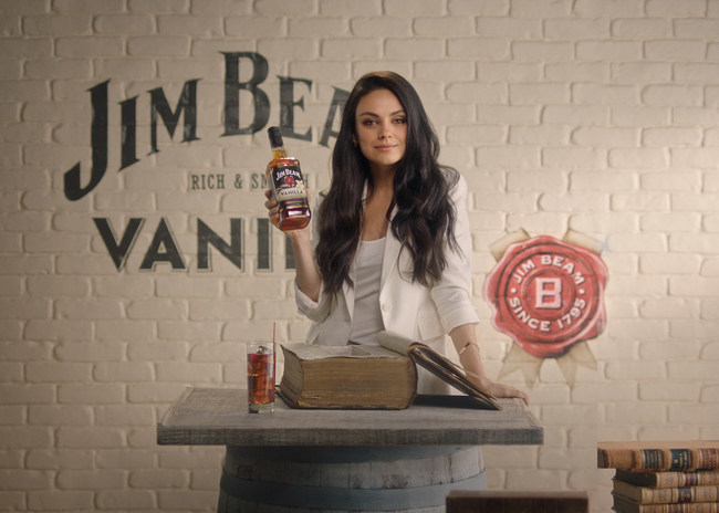 Jim Beam® and global brand partner Mila Kunis announce the launch of Jim Beam® Vanilla, the latest addition to Jim Beam's flavored portfolio.