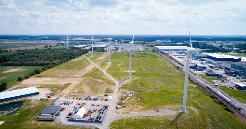 North Findlay Wind Campus, Ohio, USA. Photo courtesy of One Energy Enterprises LLC.