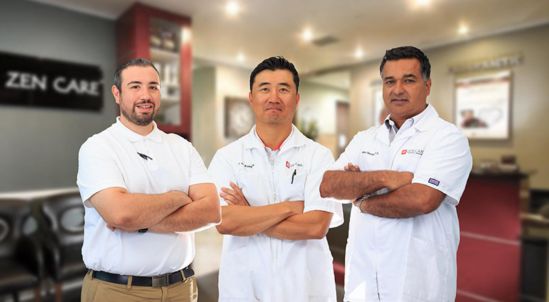 Zen Care's chiropractors specialize in Chiropractic BioPhysics and are experts at spinal decompression, and high-power cool laser therapy.