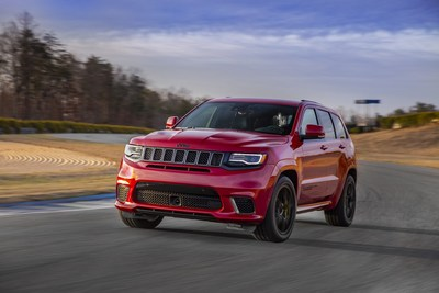 The 2018 Jeep® Grand Cherokee Trackhawk will arrive in the fourth quarter of 2017 with a starting U.S. Manufacturers Suggested Retail Price of $85,900. Customers can place orders at their local Jeep dealer beginning Aug. 10. Injected with an unmatched 707 horsepower  courtesy of an awe-inspiring supercharged 6.2-liter V-8 engine  the most awarded SUV ever and the most capable full-size SUV on the planet has been transformed into the most powerful and quickest SUV ever.