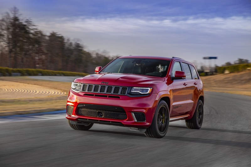 The 2018 Jeep® Grand Cherokee Trackhawk will arrive in the fourth quarter of 2017 with a starting U.S. Manufacturer's Suggested Retail Price of $85,900. Customers can place orders at their local Jeep dealer beginning Aug. 10. Injected with an unmatched 707 horsepower – courtesy of an awe-inspiring supercharged 6.2-liter V-8 engine – the most awarded SUV ever and the most capable full-size SUV on the planet has been transformed into the most powerful and quickest SUV ever.