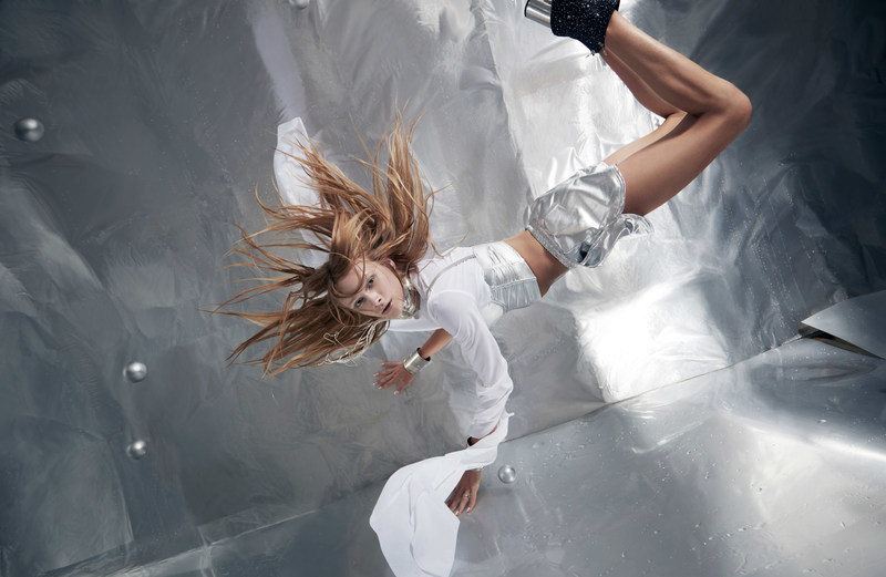 Stav Strashko poses in mid-air during Wix's Capture Your Dream Photo shoot in ZERO-GRAVITY. Source: Reiko Wakai for Wix.com's Capture Your Dream Photo campaign