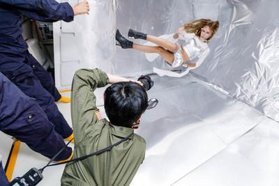 Photographer Reiko Wakai captures photographs Stav Strashko in gravity photo for Wix's Capture Your Dream Photo campaign. Source: Steve Boxell – ZERO-G