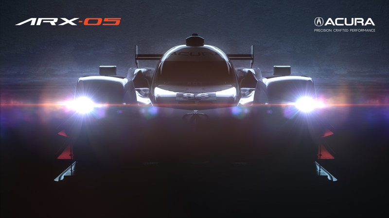 Teaser: Acura ARX-05 Prototype Race Car to be campaigned by Team Penske in 2018