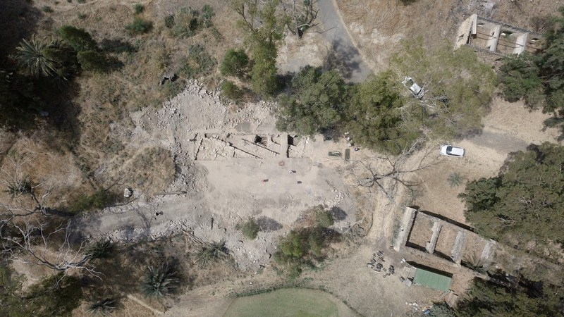 Aerial view of excavations at El Araj. Photo credit: Zachary Wong