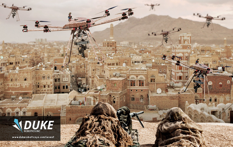 Duke Robotics brings a fully robotic weaponry system to an airborne platform.