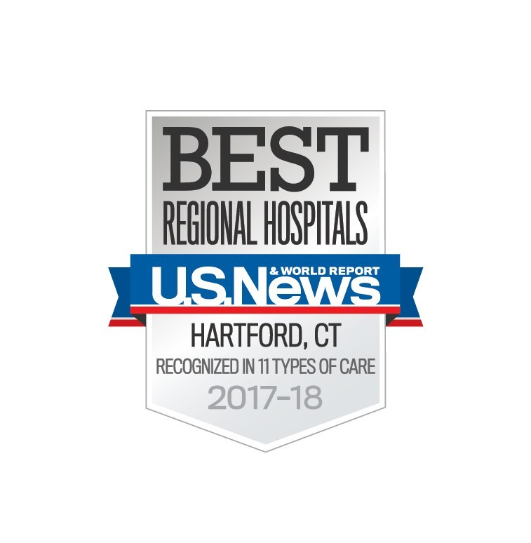 Hartford Hospital is ranked BEST in the region by U.S. News & World Report and recognized in 11 specialties.