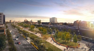 La transformation offrira un accès prestigieux au centre-ville. (Groupe CNW/Ville de Montréal - Cabinet du maire et du comité exécutif)