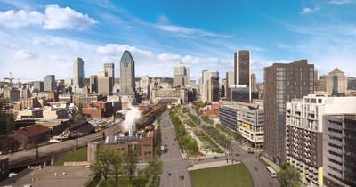 La démolition de l'ancienne autoroute en hauteur aura permis la création d'un boulevard urbain et d'une série d'espaces publics entre les rues Notre-Dame et Wellington. (Groupe CNW/Ville de Montréal - Cabinet du maire et du comité exécutif)