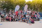 Le maire de l'arrondissement de Verdun, Jean-François Parenteau et plusieurs membres de son conseil ont procédé, lundi soir, à l'inauguration du nouvel aménagement du parc Wilson devant une centaine de parents et d'enfants du quartier. (Groupe CNW/Ville de Montréal - Arrondissement de Verdun)