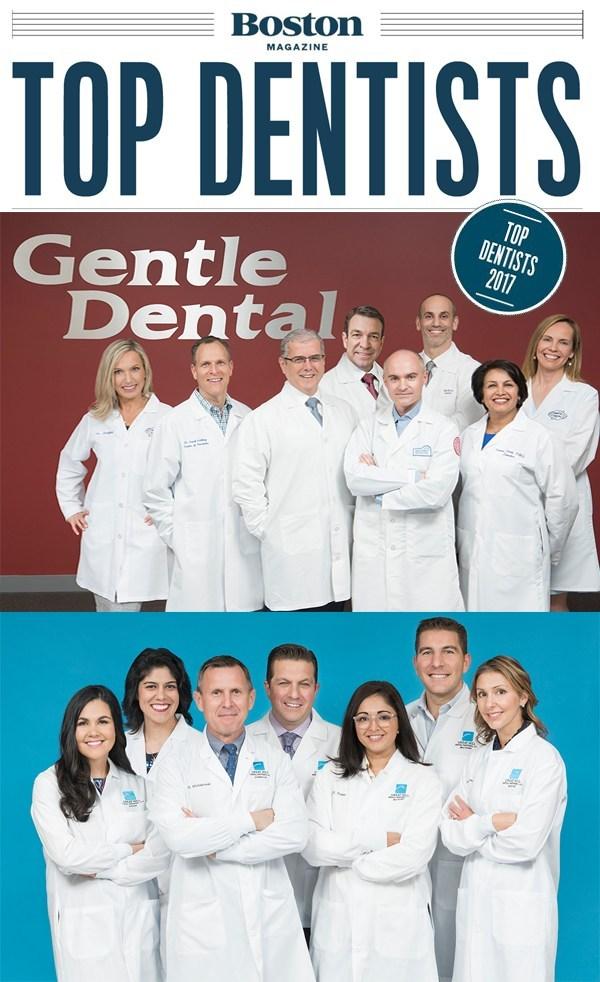 Gentle Dental & Great Hill Dental's Top Dentists in Boston Magazine