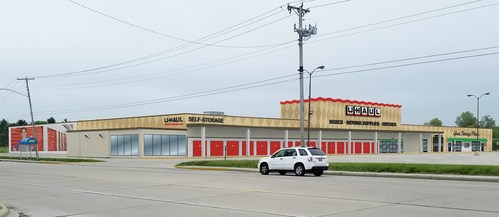 A rendering of U-Haul Moving & Storage of Morningside, a former Kmart® store at 1501 E. McGalliard Road, when renovations are completed.