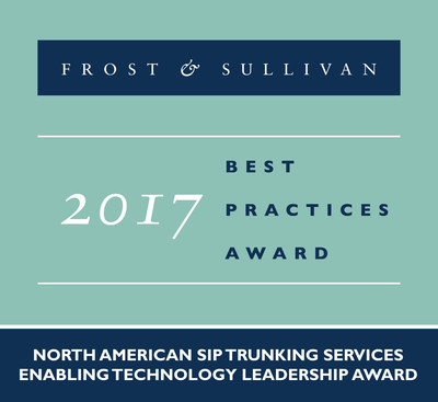 IntelePeer Receives 2017 North American SIP Trunking Services Enabling Technology Leadership Award