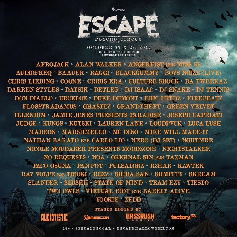 Insomniac Announces Official Lineup for 7th Annual Halloween ...
